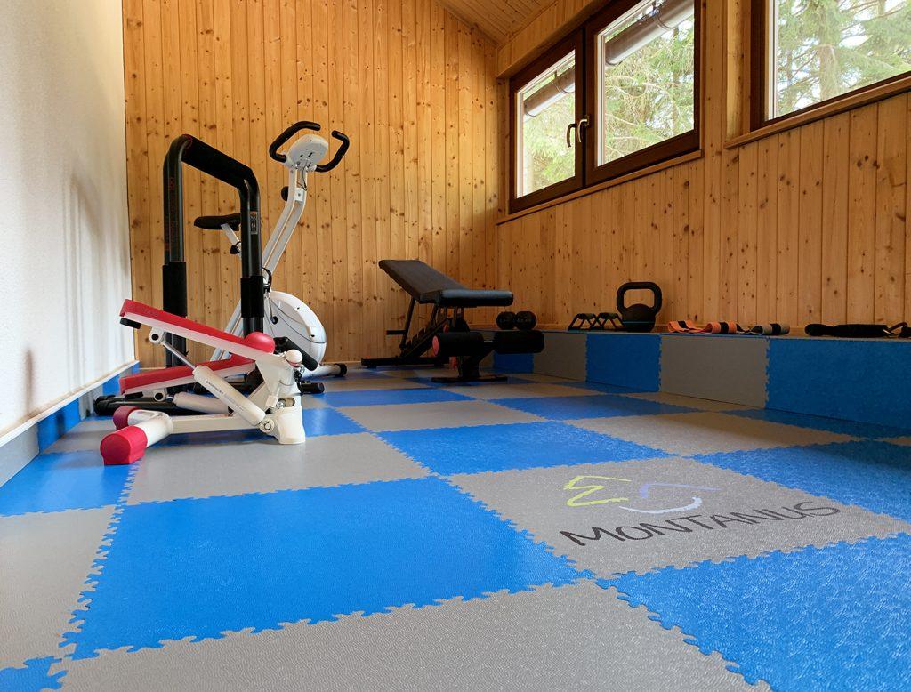 Fitness místnost Apartmány Montanus, ČR
